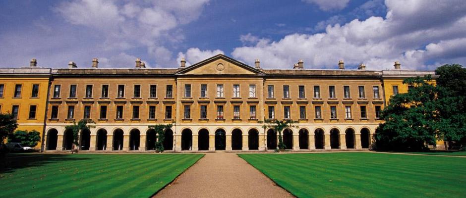 牛津大学全景图片