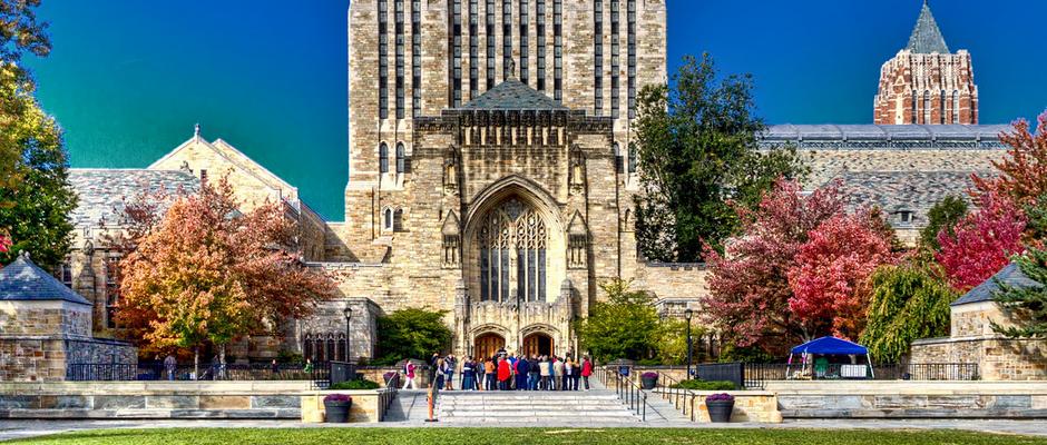 耶鲁大学全景图片