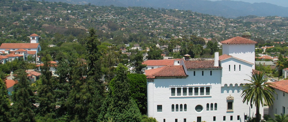 加州大学圣塔芭芭拉分校全景图片