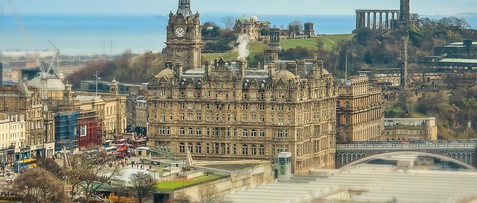 爱丁堡大学全景图片