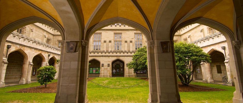墨尔本大学全景图片