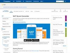 College Board推出官方新旧SAT分数换算神器