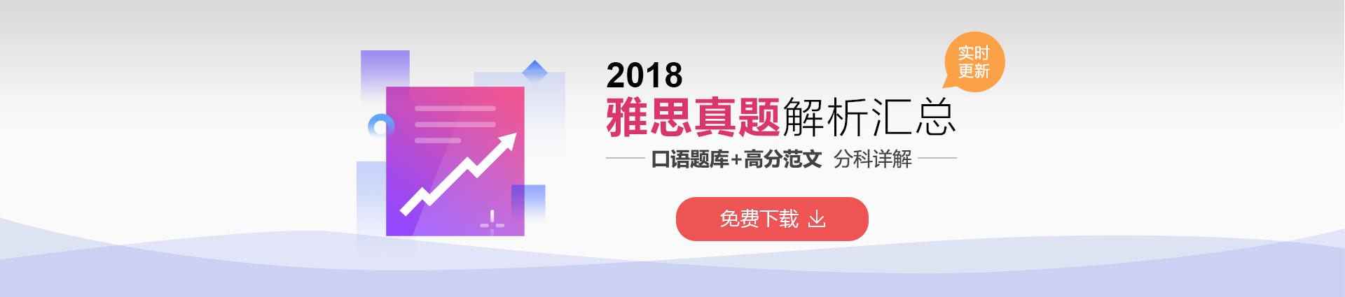2018雅思真题解析汇总