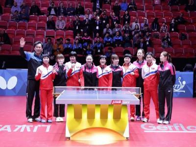 韩国朝鲜兵乓女团合并进入世锦赛半决赛