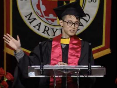 美国马里兰大学2018毕业典礼 中国留学生赢得赞誉